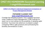 cmgt 410 homework successful learning 19