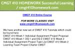 cmgt 410 homework successful learning 2