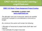 cmgt 410 aid successful learning cmgt410aid com 16