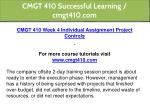 cmgt 410 successful learning cmgt410 com 15