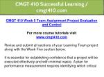 cmgt 410 successful learning cmgt410 com 20
