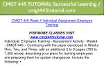 cmgt 445 tutorial successful learning 18