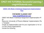 cmgt 445 tutorial successful learning 19