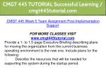 cmgt 445 tutorial successful learning 25
