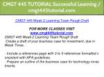 cmgt 445 tutorial successful learning 9