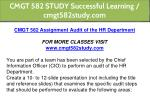 cmgt 582 study successful learning cmgt582study 1