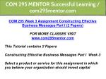com 295 mentor successful learning com295mentor 12