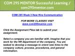 com 295 mentor successful learning com295mentor 14