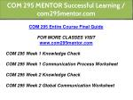 com 295 mentor successful learning com295mentor 2