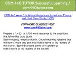 com 440 tutor successful learning com440tutor com 4