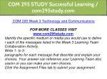 com 295 study successful learning com295study com 15
