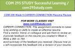 com 295 study successful learning com295study com 22