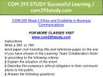 com 295 study successful learning com295study com 9
