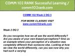 comm 102 rank successful learning comm102rank com 10