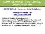 comm 102 rank successful learning comm102rank com 15