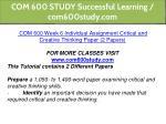 com 600 study successful learning com600study com 13