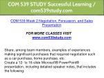 com 539 study successful learning com539study com 4
