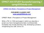cpmgt 300 study successful learning cpmgt300study 2