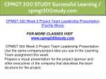 cpmgt 300 study successful learning cpmgt300study 4