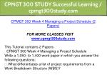 cpmgt 300 study successful learning cpmgt300study 9