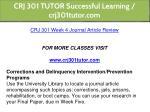crj 301 tutor successful learning crj301tutor com 13