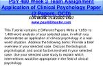 psy 480 week 3 team assignment application 1