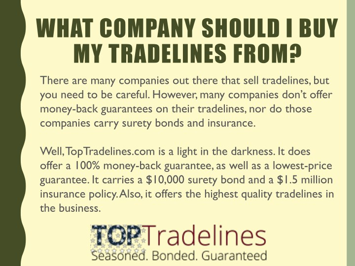 what company should i buy my tradelines from n.