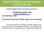 eco 550 study successful learning eco550study com 13