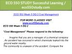 eco 550 study successful learning eco550study com 16