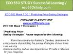 eco 550 study successful learning eco550study com 20