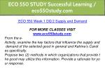 eco 550 study successful learning eco550study com 6