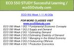 eco 550 study successful learning eco550study com 7