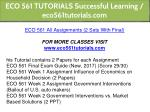 eco 561 tutorials successful learning 1