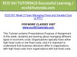 eco 561 tutorials successful learning 20