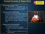 current account at vijaya bank