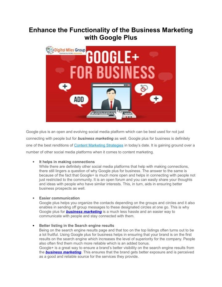 enhance the functionality of the business n.