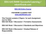 edu 645 rank successful learning edu645rank com 1