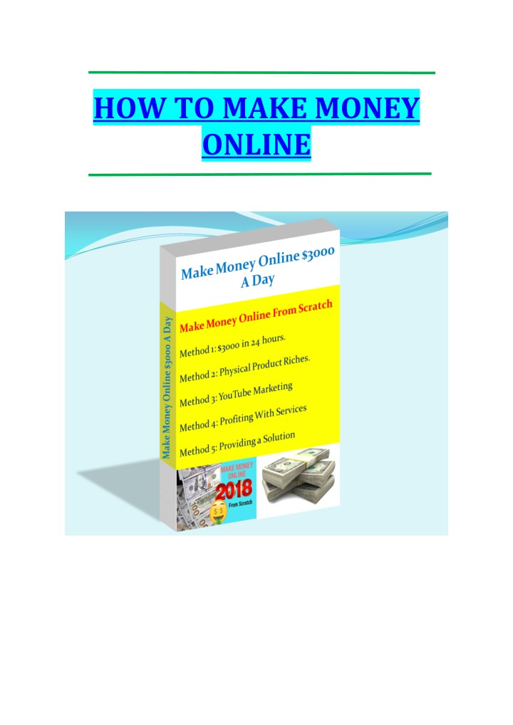 how to make money online n.