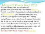 microsoft power point 2013