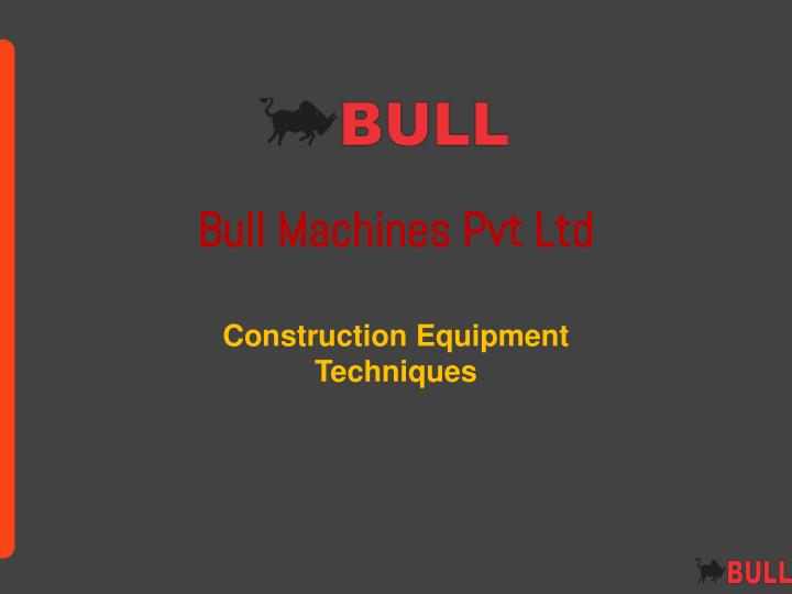 bull machines pvt ltd n.