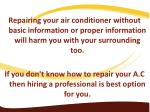 repairing your air conditioner without basic