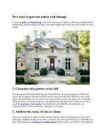 five ways to prevent winter roof damage