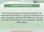 benefits of pmp exam