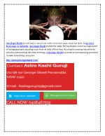 astrologer kashi provides help to anyone