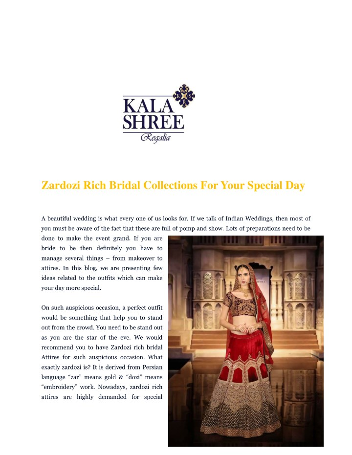 zardozi rich bridal collections for your special n.