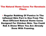 the natural home cures for keratosis pilaris