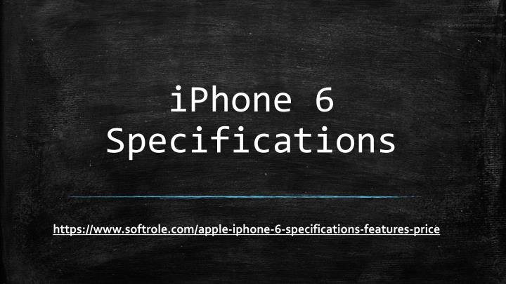 iphone 6 specifications n.