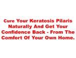 cure your keratosis pilaris naturally