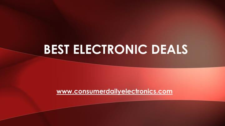best electronic deals n.
