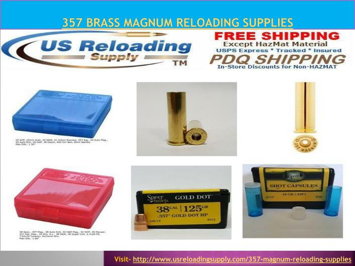 357 brass magnum reloading supplies n.